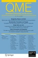 Quantitative Marketing and Economics 2/2009