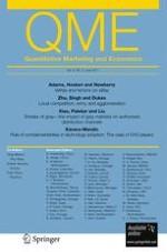 Quantitative Marketing and Economics 2/2011