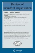 Review of Industrial Organization 1/2014
