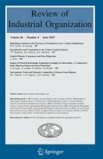 Review of Industrial Organization 4/2015