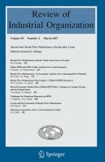 Review of Industrial Organization 2/2017