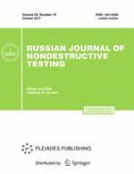 Russian Journal of Nondestructive Testing 10/2017