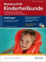 Monatsschrift Kinderheilkunde 8/2009