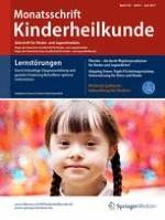 Monatsschrift Kinderheilkunde 6/2017