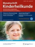 Monatsschrift Kinderheilkunde 9/2017