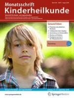 Monatsschrift Kinderheilkunde 8/2018