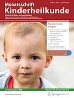 Monatsschrift Kinderheilkunde 9/2019