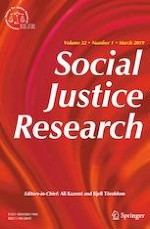 Social Justice Research 1/2019