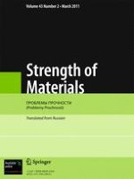 Strength of Materials 2/2011