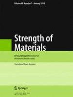 Strength of Materials 1/2016