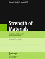 Strength of Materials 1/2018