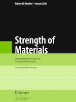 Strength of Materials 1/2020