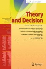Theory and Decision 3/2011