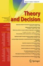 Theory and Decision 4/2011