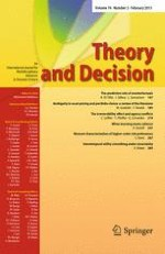 Theory and Decision 2/2013
