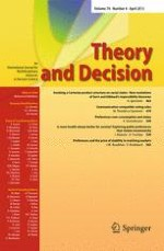Theory and Decision 4/2013