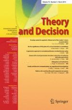 Theory and Decision 3/2014