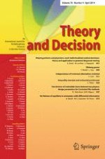 Theory and Decision 4/2014