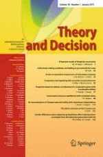 Theory and Decision 1/2015