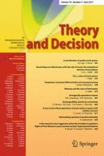 Theory and Decision 4/2015
