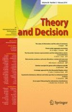 Theory and Decision 2/2016
