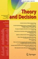 Theory and Decision 3/2016