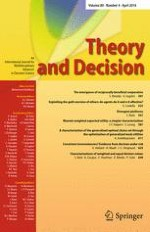 Theory and Decision 4/2016