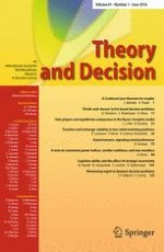Theory and Decision 1/2016