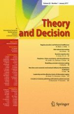 Theory and Decision 1/2017
