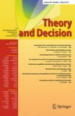 Theory and Decision 3/2017