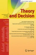 Theory and Decision 4/2017