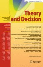 Theory and Decision 3-4/2018