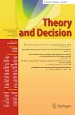 Theory and Decision 1/2019