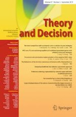 Theory and Decision 2/2019