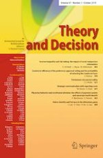 Theory and Decision 3/2019
