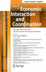 Journal of Economic Interaction and Coordination 1/2015