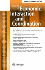 Journal of Economic Interaction and Coordination 1/2016