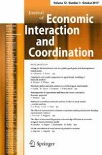 Journal of Economic Interaction and Coordination 3/2017