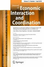 Journal of Economic Interaction and Coordination 1/2018