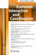Journal of Economic Interaction and Coordination 2/2018