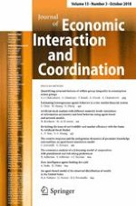 Journal of Economic Interaction and Coordination 3/2018