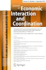 Journal of Economic Interaction and Coordination 3/2019