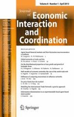Journal of Economic Interaction and Coordination 1/2013