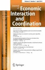 Journal of Economic Interaction and Coordination 1/2014