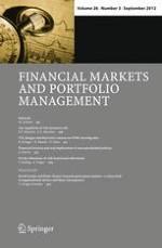 Financial Markets and Portfolio Management 3/2012