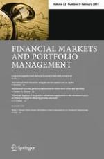 Financial Markets and Portfolio Management 1/2018