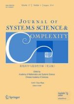 Journal of Systems Science and Complexity 4/2014
