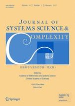 Journal of Systems Science and Complexity 1/2017