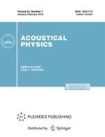 Acoustical Physics 4/2003