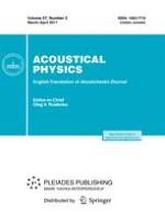 Acoustical Physics 2/2011